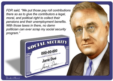 FDR Social Security Quote - Miller on the Money